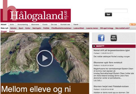 OVER OG UT: Etter seks og et halvt år er det slutt for Hålogaland Avis, som var den eneste lokale konkurrenten til Harstad Tidende.