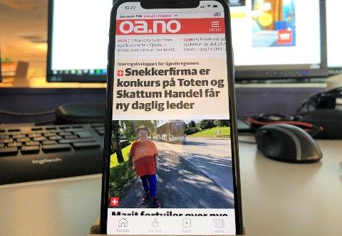 SLIK: Den nye OA-appen er av utseende nokså lik den forrige, men har flere muligheter for deg som i større grad vil personifisere din mediehverdag.