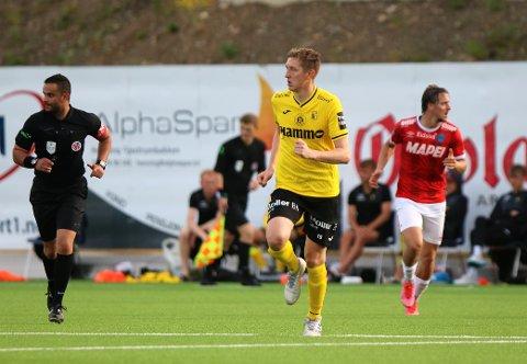 UTRESPILLER: Ole Kristian Lauvli kastet keepertrøya og fikk de siste kvarteret av treningskampen mot Kongsvinger som utespiller.