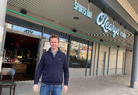 ENESTE MULIGHET: Geir Sjøvold eier O`Learys sammen med Kjetil Døviken.  De er begge styremedlemmer i eierselskapet, Stovner Restaurantdrift AS som nå har meldt oppbud. - Det er klart at dette drar jo med seg alt sammen, kommenterer Sjøvold.