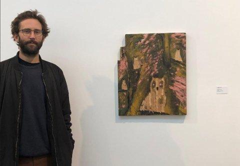 HØSTUTSTILLINGEN: Per Erik Larsen fra Larvik kom seg gjennom nåløyet til juryen og får et verk med på årets Høstutstilling i Oslo.