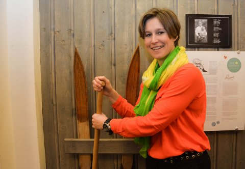 LANSERER BIRKEBEINERRIKET: Næringssjef Marie B. Låte vil løfte Åmot som en del av Birkebeinerriket. Så kan Rena være Birkebeinerbyen?