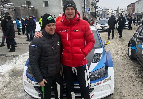 NY DUO: Stig Rune Skjærmoen (til venstre) fra Elverum skal denne sesongen hjelpe den doble rallycross-verdensmesteren Johan Kristoffersson i rally-sirkuset.