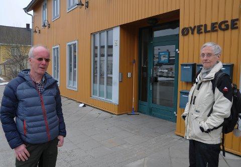 FORTVILET: Vidar Søndmør fra Os og Reidun Roland fra Røros må reise helt til Elverum og Trondheim hvis tilbudet om øyelege på Tynset blir borte.
