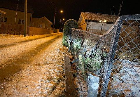 Den unge berusede sjåfører fra Porsgrunn kjørte inn i et gjerde på Tollnes.
