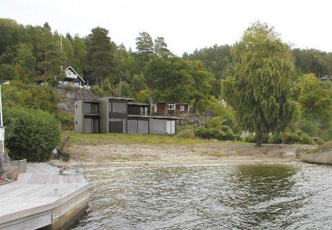 NY HYTTE: Dette er hytta som eieren har fått godkjent på Seivall. Arkitekt er Lars Sørbø. Arealet blir litt mindre enn summen av de tre bygningene som rives.