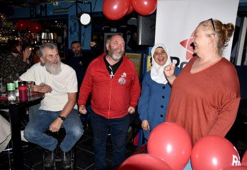 GÅR FRAM: Rødt vil de neste fire årene ta større plass i norsk politikk, fastslår (fra venstre) Terje Jektvik, Svein Ørsnes, Suhad Abushammala og Unni Kronstad.