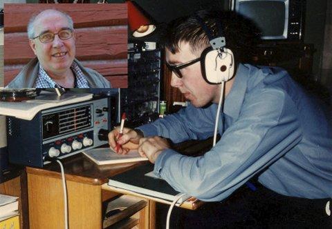 ÅRGANGSBILDE: Hans Arne Østlund ved radioutstyret til La4eu for noen år siden. Leserfoto