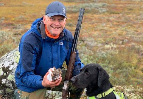 TRIVES UTE: Tord tar seg gjerne en tur på jakt.
