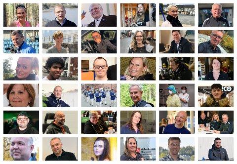 LANG LISTE: Dette er bare noen av dem som er nominert til den lokale kåringen av Årets navn.