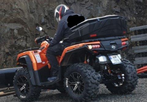Stjålet: Denne ATV'en forsvant fra gårdplassen til Cato og Britt Elin Hegglund i Søndre Ål, natt til tirsdag.