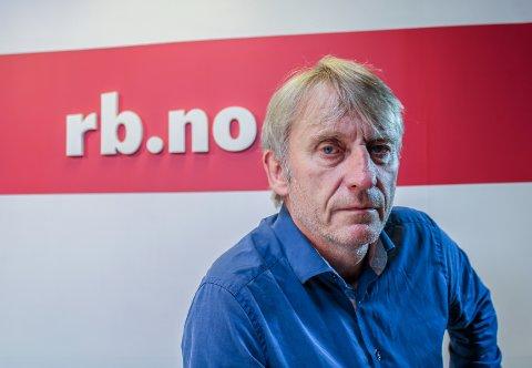 Gleder seg over opplagsvekst: Magne Storedal, ansvarlig redaktør i Romerikes Blad, gleder seg over opplagsvekst. Foto: Hans Olav Nyborg