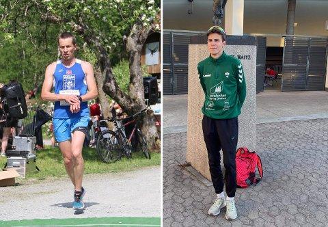 GODE AMBASSADØRAR: Svein Inge Buhaug og August Da Silva Sveen er gode ambassadørar for friidrettsmiljøet i Årdal.