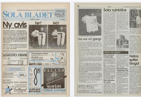 Den aller første utgaven av Solabladet kom ut 24. januar 1991.
