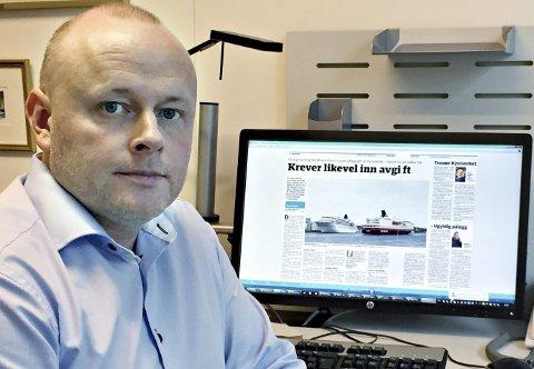 Kritiserer: Frode Sund i NHO Sjøfart kommer med kraftig kritikk av Kristiansund og Nordmøre Havn, selskapets advokat og Norsk Havneforening for deres opptreden i hurtigrutesaken.