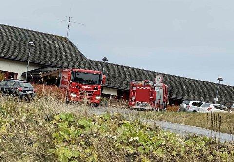 Brannvesenet rykket ut til Frei sykehjem mandag ettermiddag.