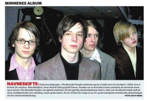 Den gang da. På tirsdag 26. januar dukket disse fjesene opp i papiravisen. Bandet avbildet i 2006, før de skiftet navn til 120 days.