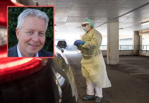 Fylkeslege i Vestfold og Telemark, Jan-Arne Hunnestad, sier det er opp til befolkningen om smittesituasjonen kommer ut av kontroll eller ikke.