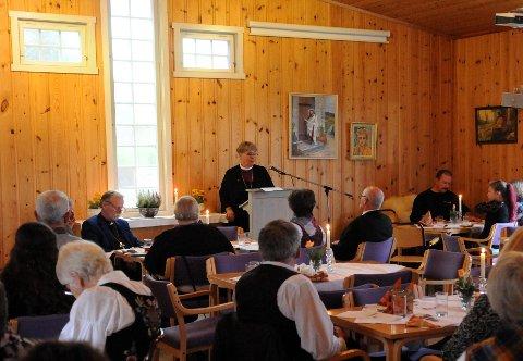 Rikets tilstand: Biskop Solveig Fiske visiterte Etnedal i 2017. No kjem ho til Øystre Slidre.