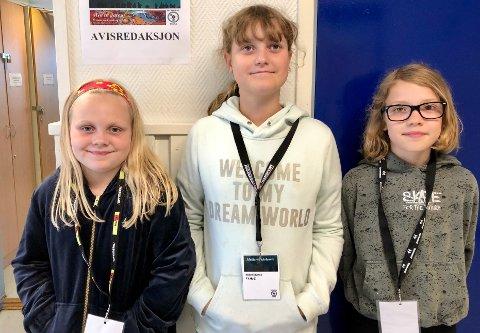PR-jenter: Thea Benedicte Jørgensen Ommen, Eline Ahlstrøm Gundersen og Nathalie Rask-Jensen.