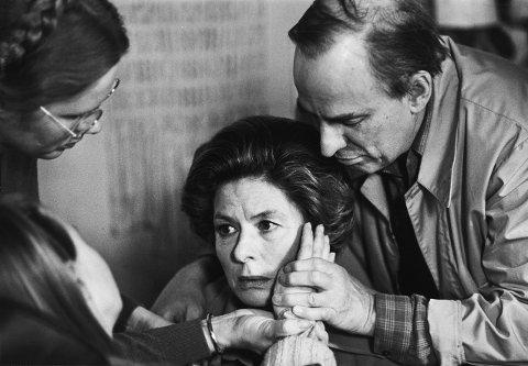 BERGMAN PÅ JAR: Ingmar og Ingrid Bergman sammen med Liv Ullmann i Studio B.
