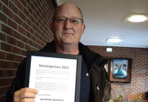 HEDRET: Jan Petter Kvelland mottok Cittaslow Sokndals Servicepris for 2021.