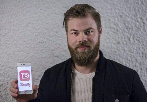 STOR RESPONS: Det har vore veldig stor respons, med fleire tusen brukarar etter første veka, seier Rune Alver Nilsen, som saman med broren Frode og to andre har utvikla ein ny bildemeldingsapp.FOTO: Morten Sæle