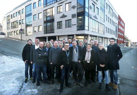 Avisa vokser: De ansatte i Avisa Nordland er fornøyde med den sterke veksten i opplaget. Foto: Tom Melby