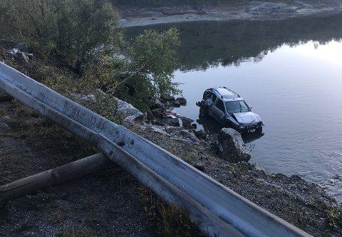 Bilen endte i havet ved Osan sør for Saltstraumen.
