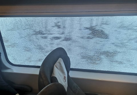 Bakke tok dette bildet under togturen onsdag.