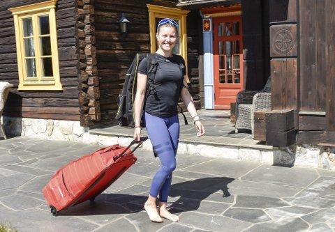 REISER SNART: Thea Emilie Benth Jellum fyller 16 år til høsten. Snart reiser Eggedals-jenta til Oppdal – for å gå på alpingymnas i fire år.