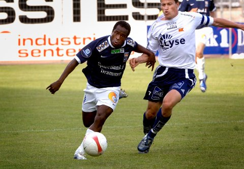 PROFIL I SIF: Ousman Nyan spilte totalt elleve sesonger for Godset før han ble nødt til å legge opp i 2009. I dag trener han Austad FK i 5. divisjon.
