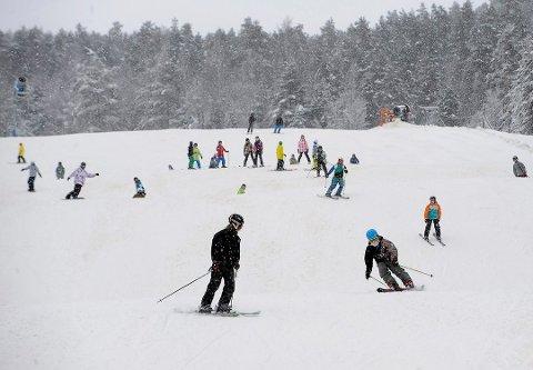Drammen Skisenter er kjent på folkemunne under navnet Aronsløypa. Dette bildet er fra en tidligere sesong.