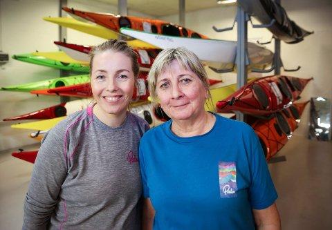 JUBILEUM: Lørdag 30. feirer Inger Line og datteren Hege Eian 30 år i kajakkbransjen med deres butikk Eian Fritid i Mjøndalen.