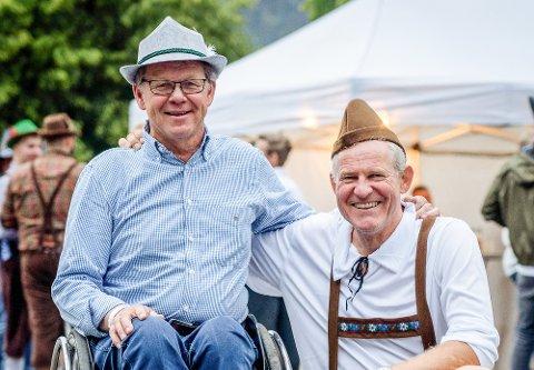HEDRET: F.v. kalkulatør Per Hobbelstad (61) og prosjektleder Knut Håkon Berglia (53)