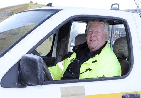 Tidligere driftssjef for vei, park og anlegg i Nedre Eiker kommune, Arnfinn Fredriksen.