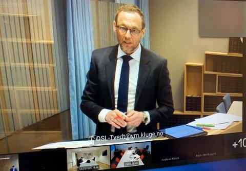 Rettsak: I dag startet rettsaken mellom Einar Arild Hauge og Nordkapp kommune.