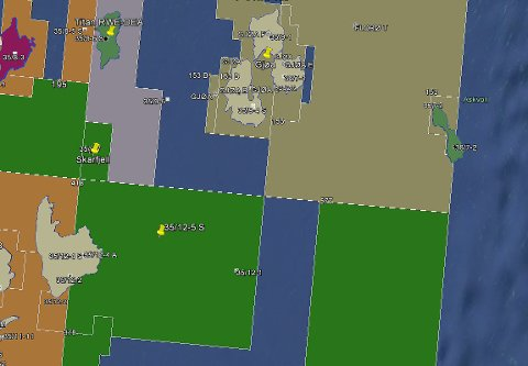 Undersøkingsbrønnen 35/12-5S ligg sørvest for Gjøa. Ill.: Google Earth/Oljedirektoratet.