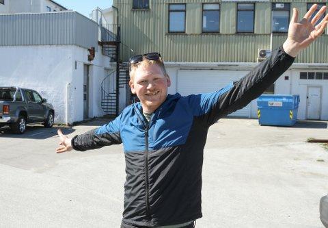 AKKURAT HER: Jan Kjetil Klubben i Florø Festeriforening vil lage til oktoberfest på Meierikaia i Florø 1. og 2. oktober.