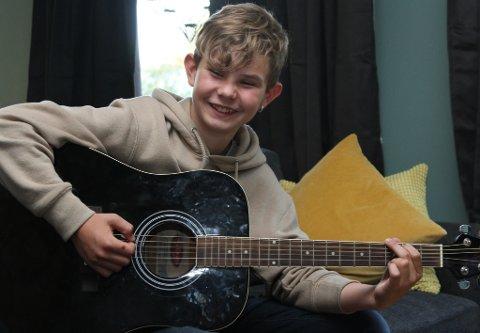 Martin Terøy Pedersen, 12 år.