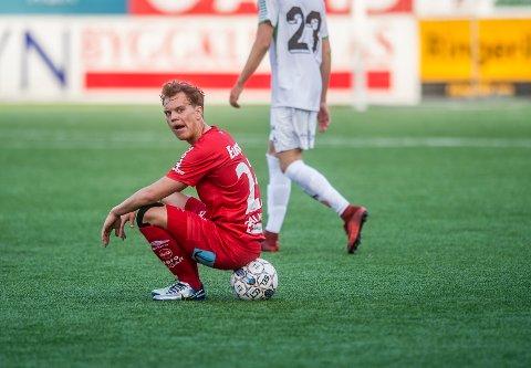 Ferdig: Rino Falk Larsen takker for seg i FFK-drakten. (Geir A. Carlsson)