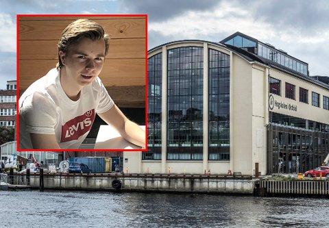 Ny karrierevei: Steffen Fjellheim (22) skulle bli eiendomsmegler, men et opphold på sykehus gjorde at han ombestemte seg. Nå går han andre året på sykepleie på Høgskolen i Østfold. Årets søkertall viser at sykepleie er det mest populære studiet på skolen.