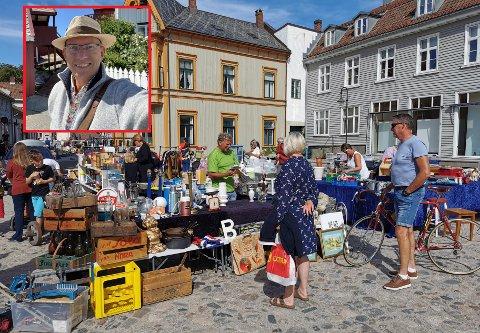 Reiseskribent Odd Roar Lange lot seg begeistre av frimarkedet i Gamlebyen da han var på besøk i Fredrikstad i sommer. Nå anbefaler han Fredrikstad som et perfekt reisemål for venninnegjenger på tur til sine mange tusen følgere.