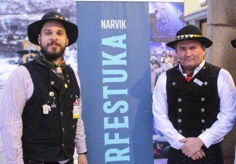 MØTER: Vinterfestuka skal i dag risikovurdere alle arrangement som enda ikke er avlyst. Fra v AK Schille-Rognmo og Frode Sollie.