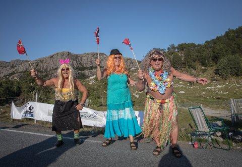 Hawaii-stemning langs løypa under fjorårets Blink Classics fra Ålgård til Sandnes.