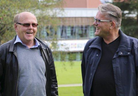 PÅ TOPP: Johan Aas (til høyre) og Kjell Arne Hanssen topper Frp-lista i Kongsvinger.