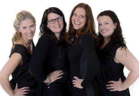SUPERGRUPPE: Eli Kristin Hanssveen (fra venstre), Hege Blaker, Gunda-Marie Bruce og Ann Beate Solstad Eide skal for første gang synge sammen. Det skjer i Brandbu i oktober. Foto: Fotograf Jenni Jenserud