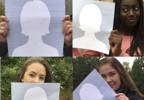 UTEN PROFILBILDE: Mange ungdommer velger å ikke ha profilbilde på Facebook. Madelen Staxrud, Desree Eguamwense, Linda Rækstad og Tora Brænden har alle sine grunner.