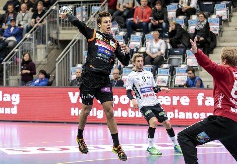 AMBISIØS KANTSPILLER: William Nilsen-Nygaard håper å utvikle seg til å bli landslagsspiller ved å spille i Halden TH. Arkivfoto: Hans Petter Wille