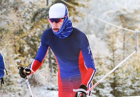 GJENNOMBRUDD: Filip Glittenberg Holt ble nummer 14 i et Norgescuprenn i langrenn på Voss i helga.